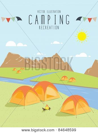 Camping In The Natural Atmosphere. (day)