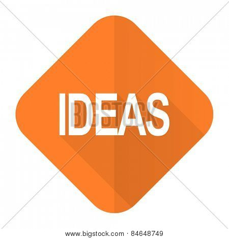 ideas orange flat icon