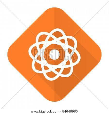 atom orange flat icon