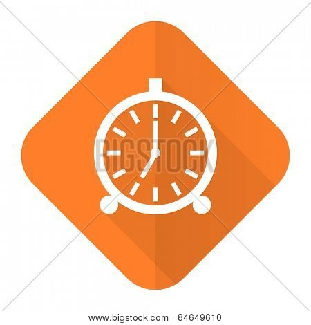 alarm orange flat icon alarm clock sign