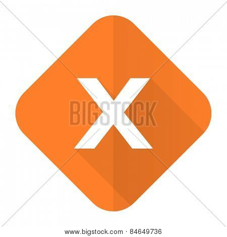 cancel orange flat icon