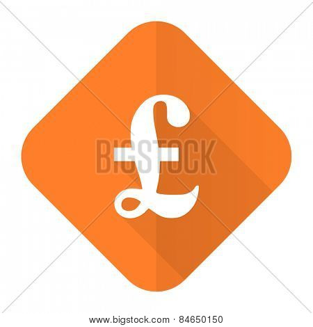 pound orange flat icon