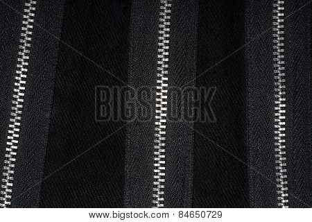 Zippers On Fabric