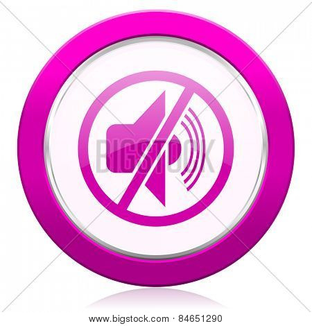 mute violet icon silence sign