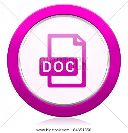 doc file violet icon