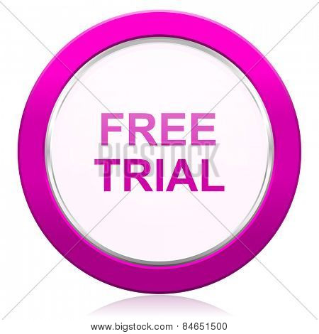 free trial violet icon