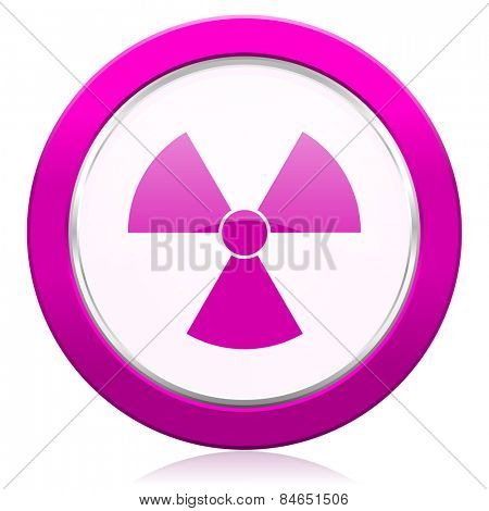radiation violet icon atom sign