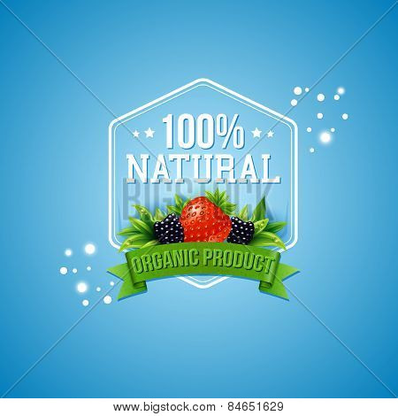 Hundred percent natural organic product