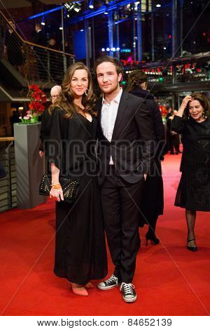 BERLIN, GERMANY - FEBRUARY 14: F. Lau and his girlfriend Annika Kipp. Closing Ceremony, 65th Berlinale International Film Festival at Berlinale Palace on February 14, 2015 in Berlin, Germany.
