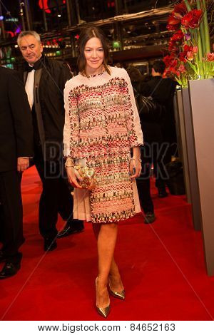 BERLIN, GERMANY - FEBRUARY 14: Hannah Herzsprung attends the Closing Ceremony of the 65th Berlinale International Film Festival on February 14, 2015 in Berlin, Germany