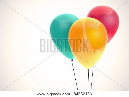 Three Color Balloons