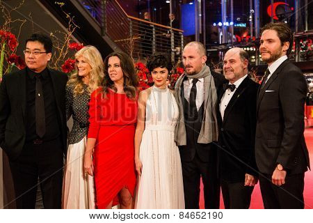 BERLIN, GERMANY - FEBRUARY 14: The International Jury. Closing Ceremony. 65th Berlinale International Film Festival on February 14, 2015 in Berlin, Germany.