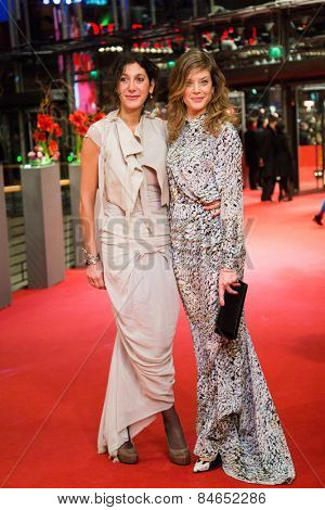 BERLIN, GERMANY - FEBRUARY 14: Marie Baeumer (R) and guest attend the Closing Ceremony of the 65th Berlinale International Film Festival on February 14, 2015 in Berlin, Germany.