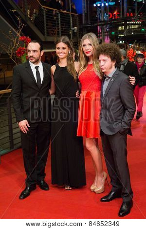 BERLIN, GERMANY - FEBRUARY 14: Moises Zonana (L), Michel Franco (R) and guests attend the Closing Ceremony of the 65th Berlinale International Film Festival on February 14, 2015 in Berlin, Germany.