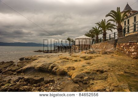 Thermal Springs On The Beach In Loutra Edipsou, Evia, Greece