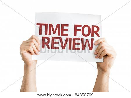 Time for Review card isolated on white background