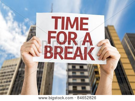 Time for a Break card with urban background
