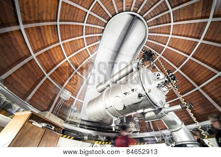Modern Astronomy Telescope In An Astronomical Observatory.