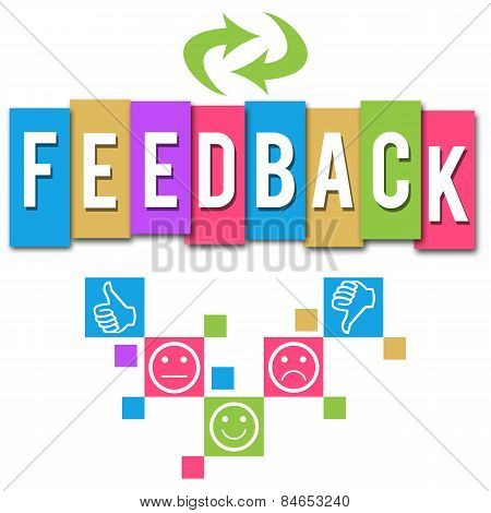 Feedback Colorful Elements Square