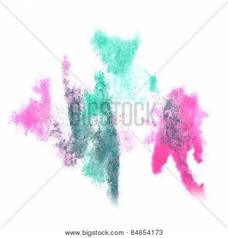Abstract watercolor background turquoise, pink for your design i