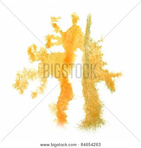 Abstract watercolor background yellow for your design insult