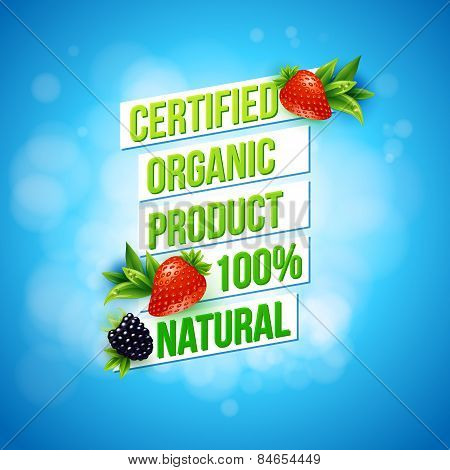 Certified Organic Product 100 percent Natural