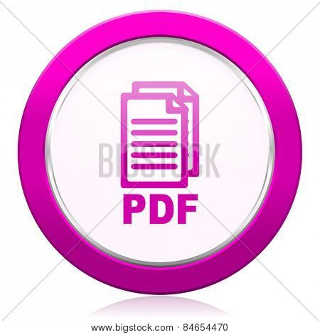 pdf violet icon pdf file sign