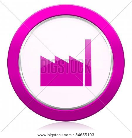 factory violet icon industry sign manufacture symbol