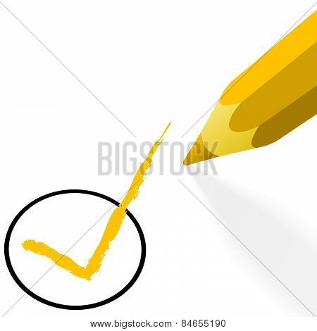 Yellow Pencil With Hook