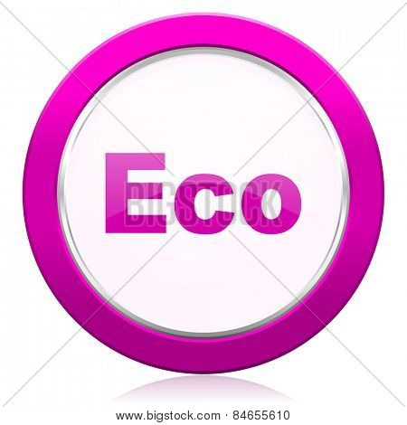 eco violet icon ecological sign