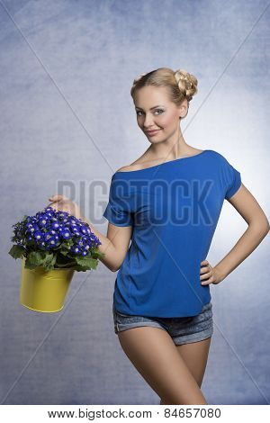 Spring, Blonde Girl