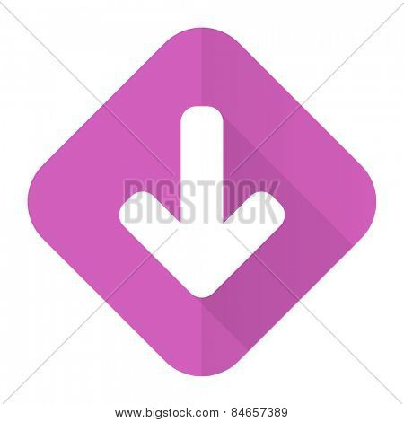 download arrow pink flat icon arrow sign