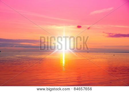 Nightfall by the Sea Sundown Serenity