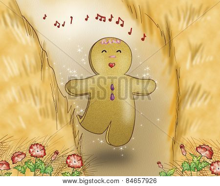 Gingerbread boy singing