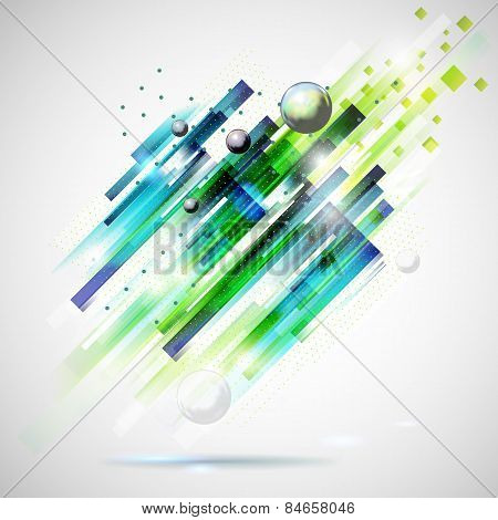 Abstract technology modern geometric spot