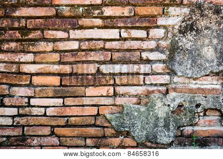 Old Deformed Brick Wall Background/texture