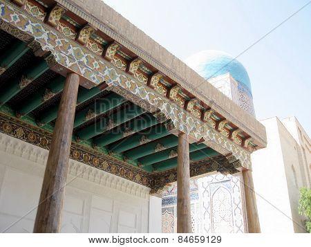 Samarkand The Painting On Wood In Shakhi-zindah 2007