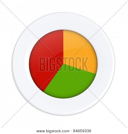 Diet Plate With Gradient Mesh, Vector Illustration