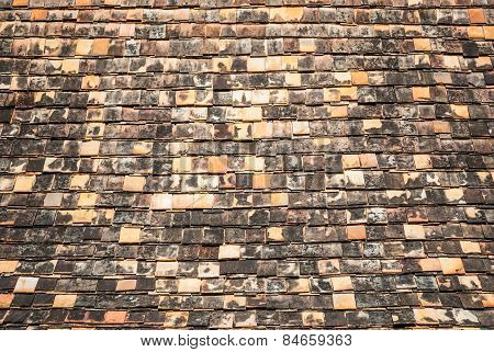 Northern Thai Brick Roof Background/ Texture