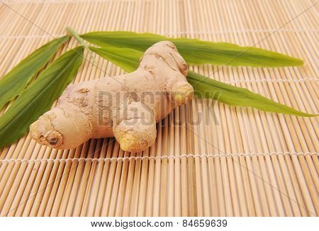 ginger on chopping board
