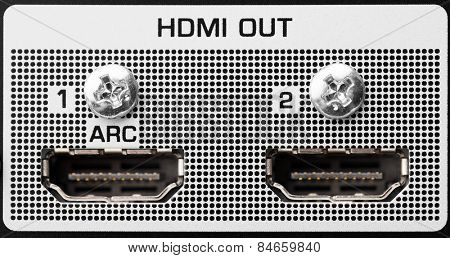 HDMI out port, closeup view