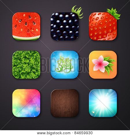 Attractive Square Buttons with Different Designs