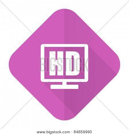hd display pink flat icon