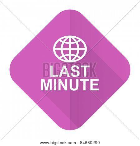 last minute pink flat icon
