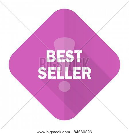 best seller pink flat icon
