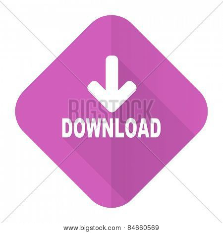 download pink flat icon