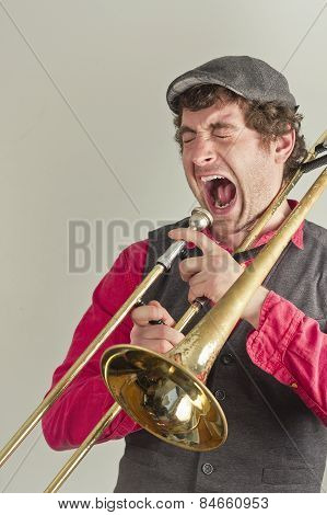Trombone Musician Yelling