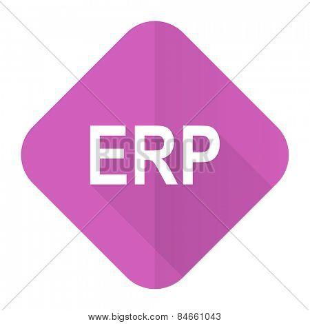 erp pink flat icon