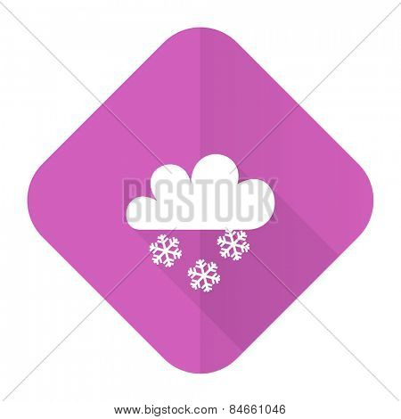 snowing pink flat icon waether forecast sign