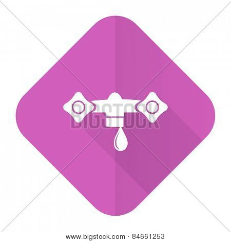 water pink flat icon hydraulics sign
